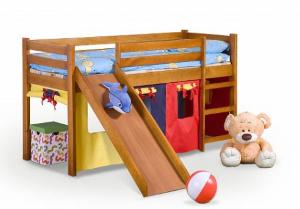 Dětská patrová postel se skluzavkou Neo Plus