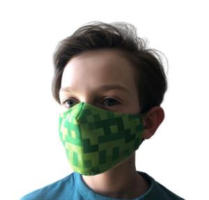 dětská rouška, ústenka, ochrana pro děti, dětská rouška, motiv MineCraft