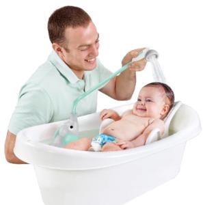 dětská bateriová sprcha se slabým průtokem