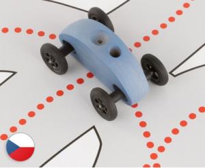 Finger car, hračka pro děti, dřevěná hračka, česká výroba, vyrobeno v české republice, trihorse, montessori, rozvíjící motorické schopnosti, napomáhá soustředění